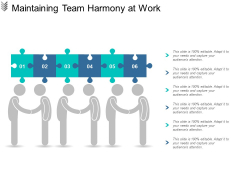 Maintaining Team Harmony At Work Ppt Powerpoint Presentation Ideas Elements