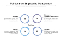 Maintenance Engineering Management Ppt PowerPoint Presentation Diagram Graph Charts Cpb