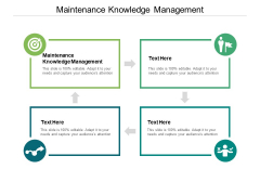 Maintenance Knowledge Management Ppt PowerPoint Presentation Outline Ideas Cpb