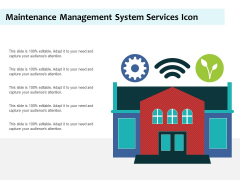 Maintenance Management System Services Icon Ppt PowerPoint Presentation Styles Slide Download PDF