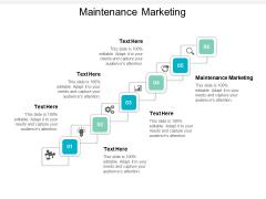 Maintenance Marketing Ppt PowerPoint Presentation Model Master Slide Cpb
