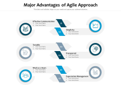 Major Advantages Of Agile Approach Ppt PowerPoint Presentation Show Influencers PDF