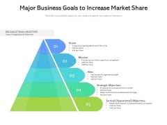 Major Business Goals To Increase Market Share Ppt PowerPoint Presentation File Slide Download PDF
