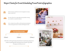 Major Clients For Event Scheduling PowerPoint Infographics Ppt PowerPoint Presentation Gallery Summary PDF