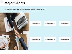 Major Clients Management Ppt PowerPoint Presentation Professional Layouts
