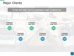 Major Clients Ppt PowerPoint Presentation Inspiration Portfolio