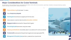 Major Considerations For Cruise Terminals Slides PDF