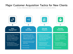 Major Customer Acquisition Tactics For New Clients Ppt PowerPoint Presentation Slides Example Topics PDF