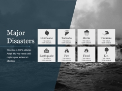 Major Disasters Ppt PowerPoint Presentation Ideas