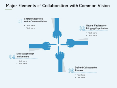 Major Elements Of Collaboration With Common Vision Ppt PowerPoint Presentation Gallery Graphics Download PDF