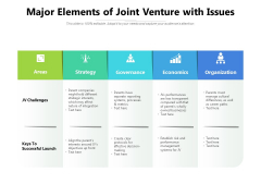 Major Elements Of Joint Venture With Issues Ppt PowerPoint Presentation Inspiration Design Templates PDF