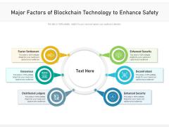 Major Factors Of Blockchain Technology To Enhance Safety Ppt PowerPoint Presentation Slides Show PDF