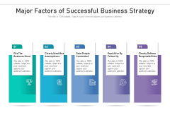 Major Factors Of Successful Business Strategy Ppt PowerPoint Presentation Outline Example File PDF