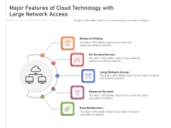 Major Features Of Cloud Technology With Large Network Access Ppt PowerPoint Presentation Gallery Graphics Pictures PDF