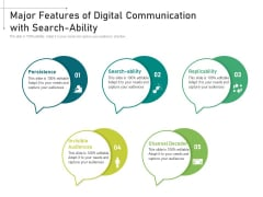 Major Features Of Digital Communication With Search Ability Ppt PowerPoint Presentation Slides Examples PDF