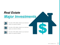 Major Investments Ppt PowerPoint Presentation Slides Layout