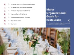 Major Organizational Goals For Restaurant Ppt PowerPoint Presentation Outline Professional PDF