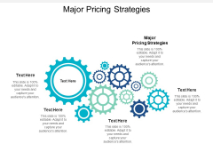 Major Pricing Strategies Ppt PowerPoint Presentation Model Ideas Cpb