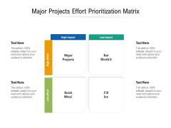 Major Projects Effort Prioritization Matrix Ppt PowerPoint Presentation Inspiration Infographics PDF