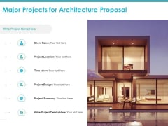 Major Projects For Architecture Proposal Ppt PowerPoint Presentation Portfolio Show