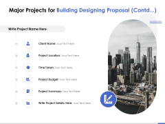 Major Projects For Building Designing Proposal Location Ppt PowerPoint Presentation Styles Tips