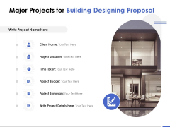 Major Projects For Building Designing Proposal Ppt PowerPoint Presentation Layouts Designs