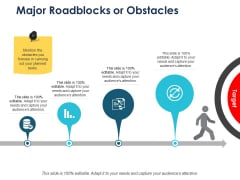 Major Roadblocks Or Obstacles Ppt PowerPoint Presentation Icon Slide Download