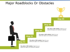 Major Roadblocks Or Obstacles Ppt PowerPoint Presentation Icon Topics