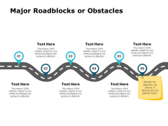 Major Roadblocks Or Obstacles Ppt PowerPoint Presentation Infographics Outfit