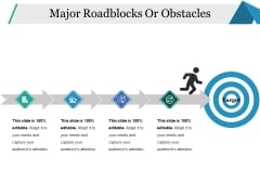 Major Roadblocks Or Obstacles Ppt PowerPoint Presentation Inspiration Background