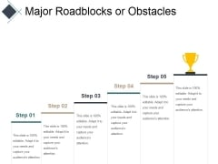 Major Roadblocks Or Obstacles Ppt PowerPoint Presentation Inspiration Maker