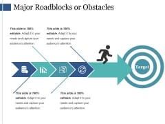 Major Roadblocks Or Obstacles Ppt PowerPoint Presentation Model Designs Download