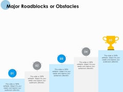 Major Roadblocks Or Obstacles Ppt PowerPoint Presentation Professional Microsoft