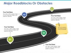 Major Roadblocks Or Obstacles Ppt PowerPoint Presentation Slides Background Images