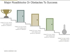 Major Roadblocks Or Obstacles To Success Ppt PowerPoint Presentation Themes