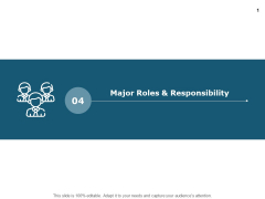 Major Roles And Responsibility Teamwork Ppt PowerPoint Presentation Pictures Samples