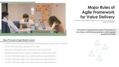 Major Rules Of Agile Framework For Value Delivery Ppt Professional Good PDF