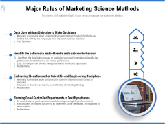 Major Rules Of Marketing Science Methods Ppt PowerPoint Presentation Gallery Introduction PDF