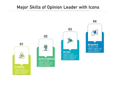 Major Skills Of Opinion Leader With Icons Ppt PowerPoint Presentation Gallery Show PDF