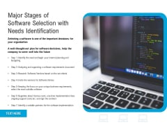 Major Stages Of Software Selection With Needs Identification Ppt PowerPoint Presentation Slides Design Inspiration PDF