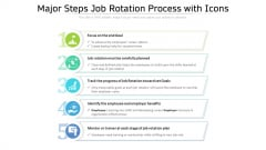 Major Steps Job Rotation Process With Icons Ppt PowerPoint Presentation Inspiration Layout PDF