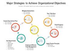 Major Strategies To Achieve Organizational Objectives Ppt PowerPoint Presentation Professional Design Ideas PDF