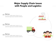 Major Supply Chain Issues With People And Logistics Ppt PowerPoint Presentation File Infographic Template PDF