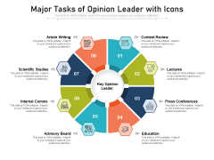 Major Tasks Of Opinion Leader With Icons Ppt PowerPoint Presentation File Master Slide PDF