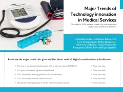 Major Trends Of Technology Innovation In Medical Services Ppt PowerPoint Presentation File Ideas PDF