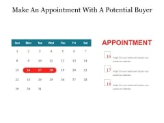 Make An Appointment With A Potential Buyer Ppt PowerPoint Presentation File Graphics Pictures