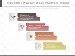 Make Internal Processes Efficient Powerpoint Templates