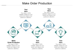 Make Order Production Ppt PowerPoint Presentation Icon Samples Cpb Pdf
