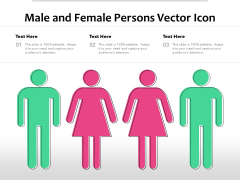 Male And Female Persons Vector Icon Ppt PowerPoint Presentation Inspiration Layout PDF