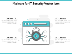 Malware For IT Security Vector Icon Ppt PowerPoint Presentation File Mockup PDF